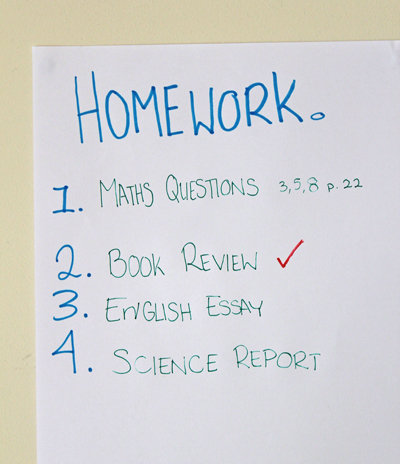 homework, advice, school, teenagers, complete homework on time